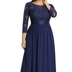 Elegant Navy Blue dress